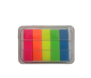 PET removable neon color sticky notes with box