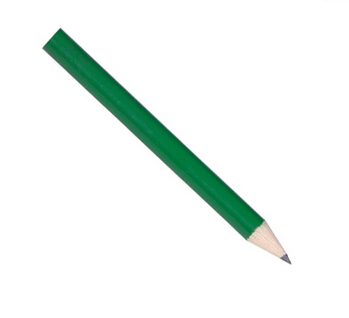 New design Lastest cheap bulk mini golf green pencil