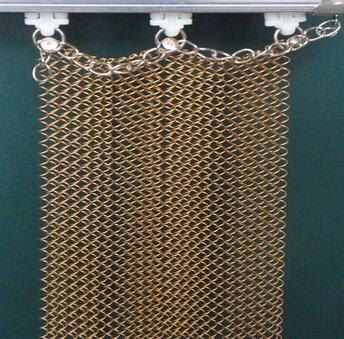 decorative metal curtains/Metal mesh curtain export countries