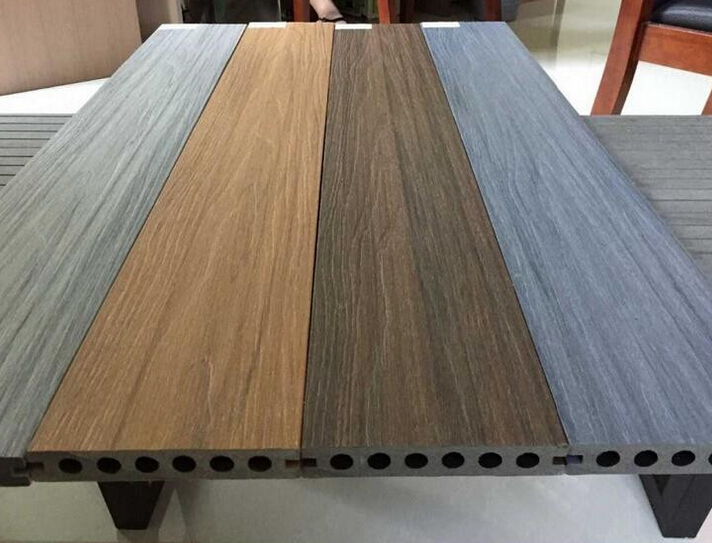 Co-Extrusion WPC decking with Shield Wood Gain Faux Timber 140*23mm