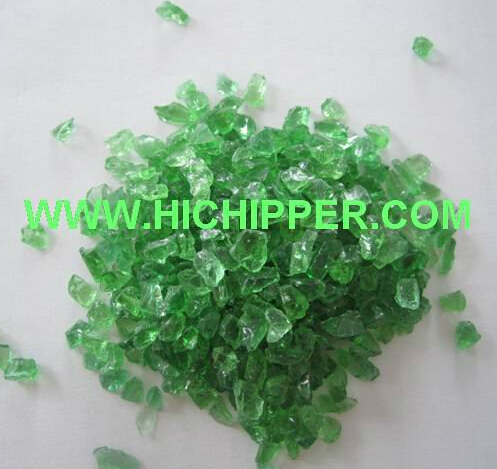 Crushed colored glass granule