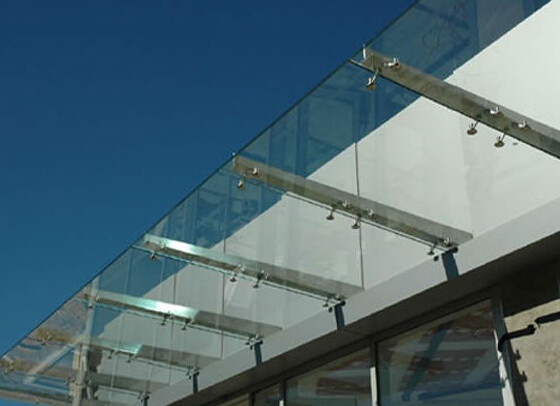China modern glass awning /stainless steel glass canopy