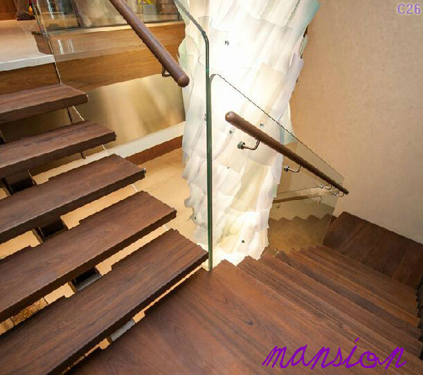 Interior Steel Single Stringer Wood Stair Design