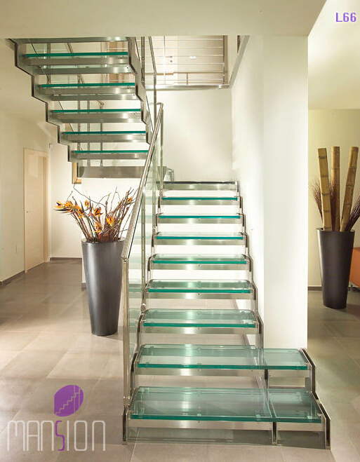 Mansion Glass Panel Railing Glass Stairs Grill Design Indoor