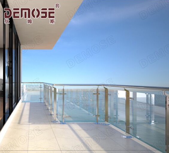 Demose glass railing for balcony/pool with high quality