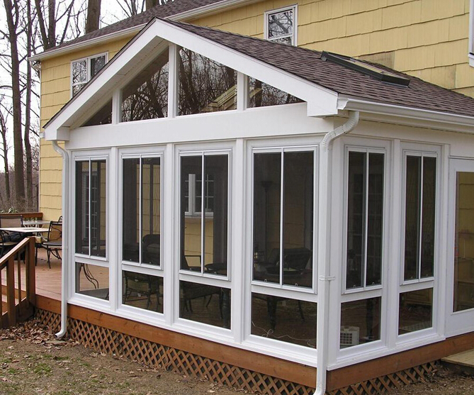 Single /double /triple glazing aluminum used winter garden sunroom