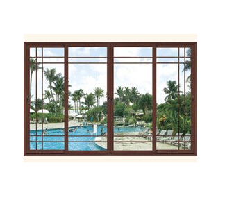 American style Aluminum Wood Composite Windows and Doors