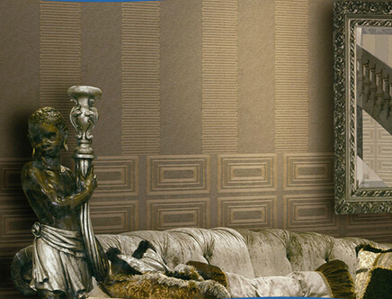 NE020404 non-woven wallpaper with embroidery / embroidery wallpaper