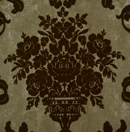 LV10105 Velvet wallcovering non woven back vinyl wallpaper flock