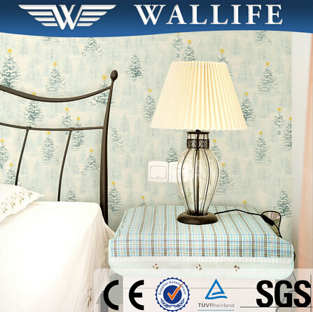 TN10504 bedroom decoration tree design wall covering material