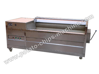 Brush Potato Washing and Peeling Machine