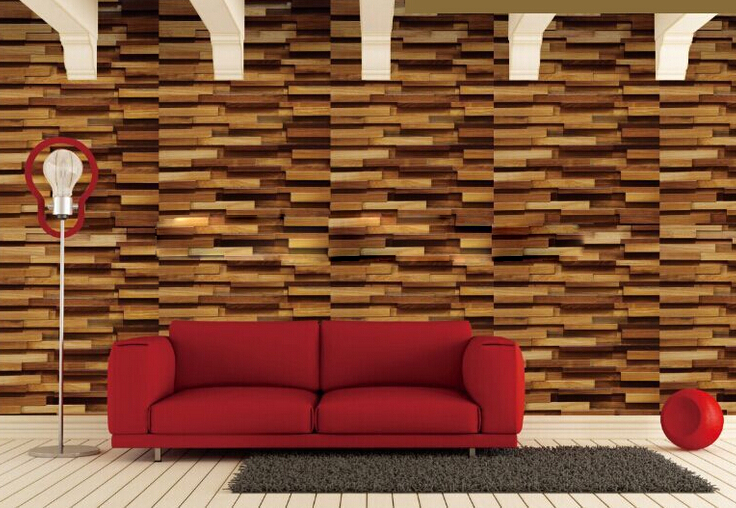 3D wood wall panel wall decoratio