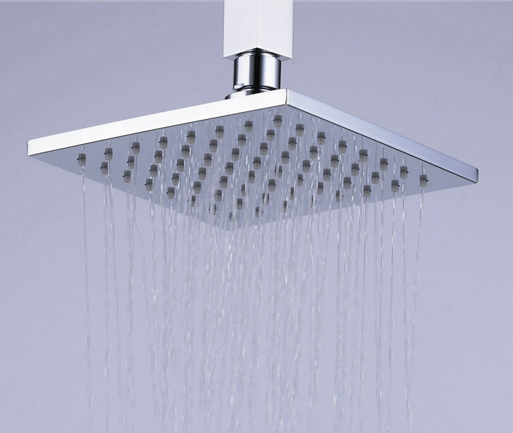 Beelee BL3706 Wall-Mount Brass Copper Rainfall Showerhead Plain Silicone Rubber Rain Shower Head