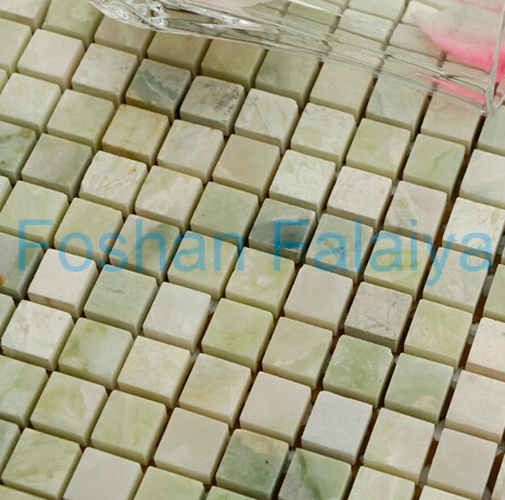 Decorative Square Natural Stone Mosaic for Wall/Floor Green Onyx