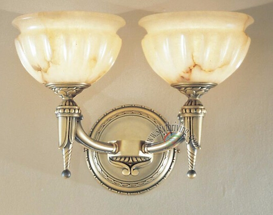 antique bronze marble wall sconces