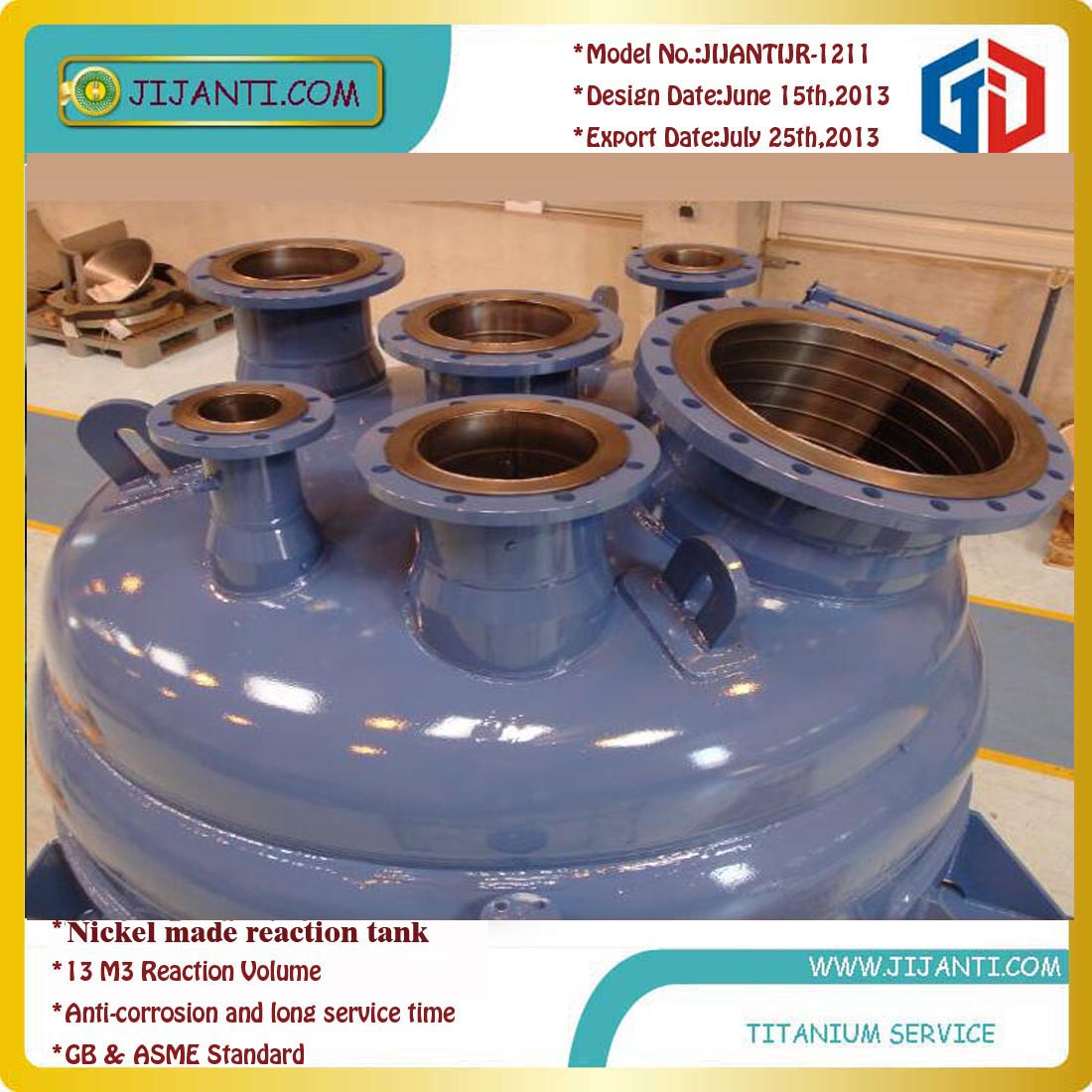 Titanium alloy reactor