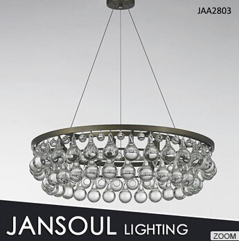JANSOUL modern kitchen pendant light with crystal