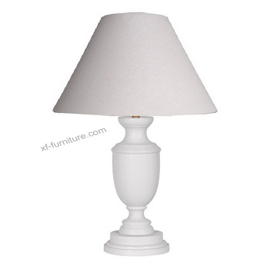 China Manufacturer white farbic wood base table lamp(RL23)