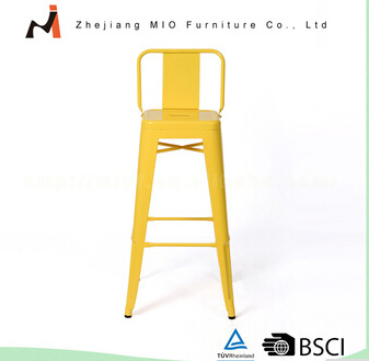 Hot selling promotional metal bar stool with back