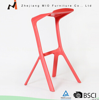 Colorful factory price home decoration pp bar stool