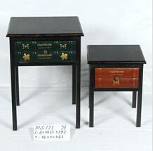 vintage side table with metal based