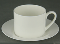 porcelain coffee cup and saucer