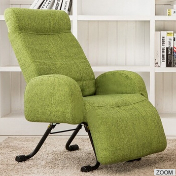 BABAMIA luxury fabric recliner chair/Japan style nap time sofa chair/green sofa chair