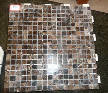 Dark Emperador marble mosaic tile