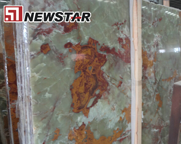 import slab green onyx marble