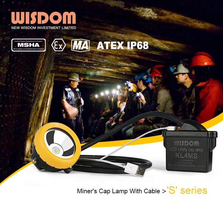WISDOM KL4MS mining cap lamp, headlamp