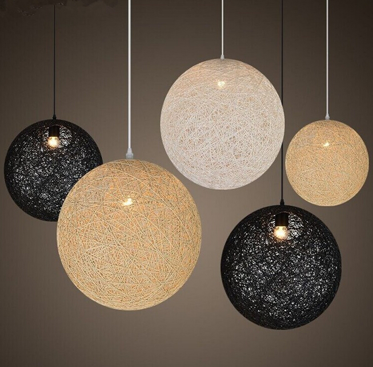 Arabian Style Energy Saving E27 indoor Pendant Lamp fibre ball pendant light