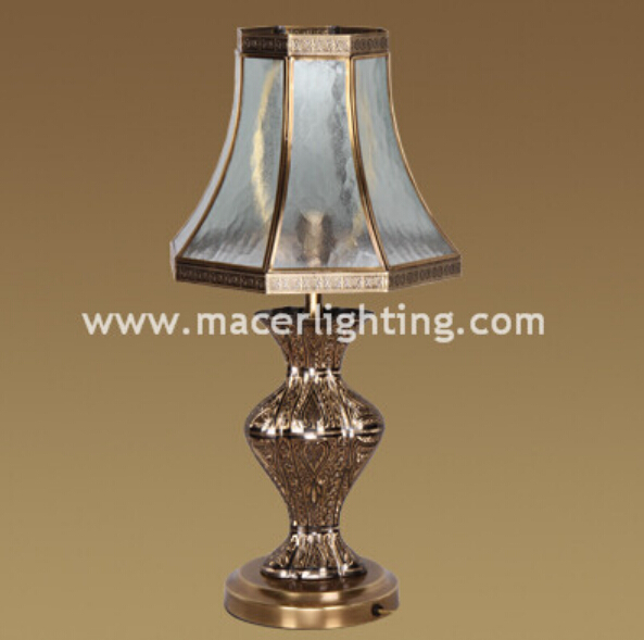 antique art deco brass table lamps