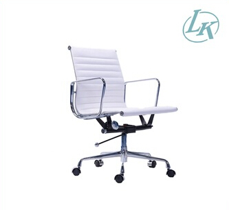 Modern swivel low back office chair aluminum armrest chair