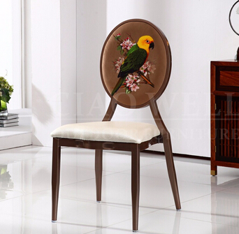 Home garden furniture dining room chair stainless steel chair
