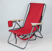 backrest foldable pvc fabric backpack aluminum beach chair