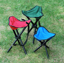 outdoor folding camping chair with three legs