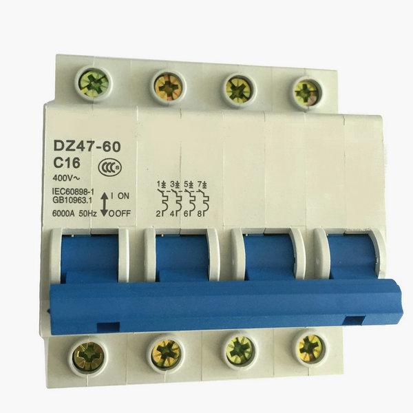 dz47-63 mcb circuit breaker 1p 2p 3p 4p