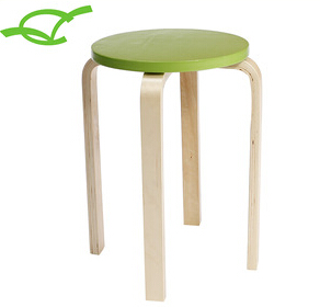 modern cheap simple outdoor wood leisure stool for sale