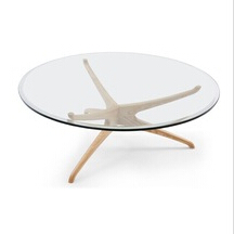 hot seller round glass coffee table