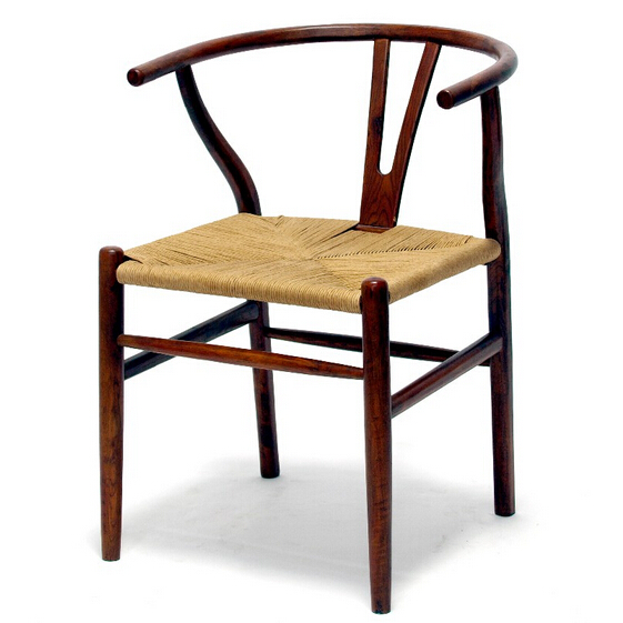 Fashion able french classical cross back arm in wooden finished sling chair