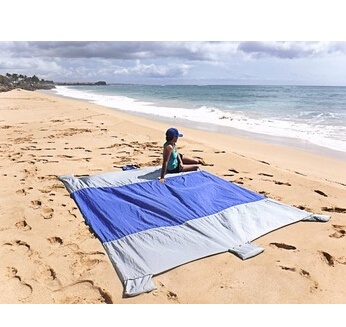 Carries 2016 new design outdoor beach blanket ripstop Nylon beach blanket parachute beach blanket