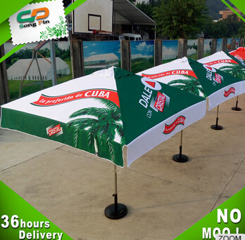 custom logo printing outdoor promotion patio umbrella