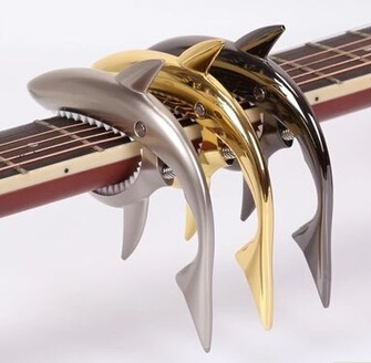 Hot Sale Shark shape Guitar Capo rose gold Metal Guitar Capo GC-30