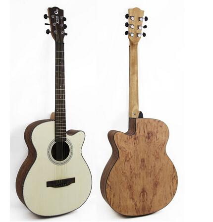 40 inch spruce acoustic guitar cutaway guitar