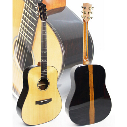 41 inch high quality sitka soild spruce round guitar /Guitar Wholesale/Butterflies wood
