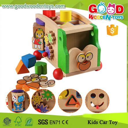 Hot Sale Pulling Along Kids Car Toy, Enjoyable 7 Different Function Toddler Car Toy, OEM Lovely Design Baby Car Toy