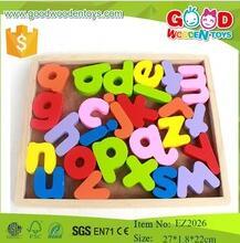 Colorful alphabet letter educational wooden toys preschool educational wooden letter box for kids