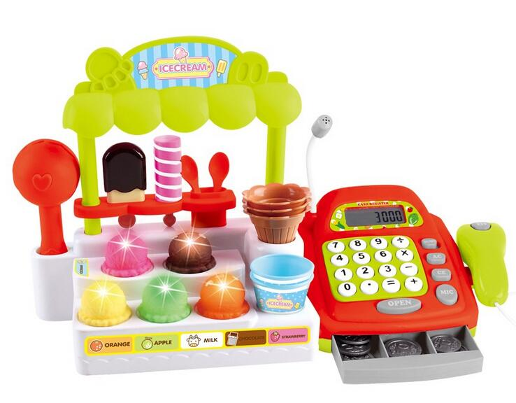 Kids electric ice cream maker cashier toy china toy distributors