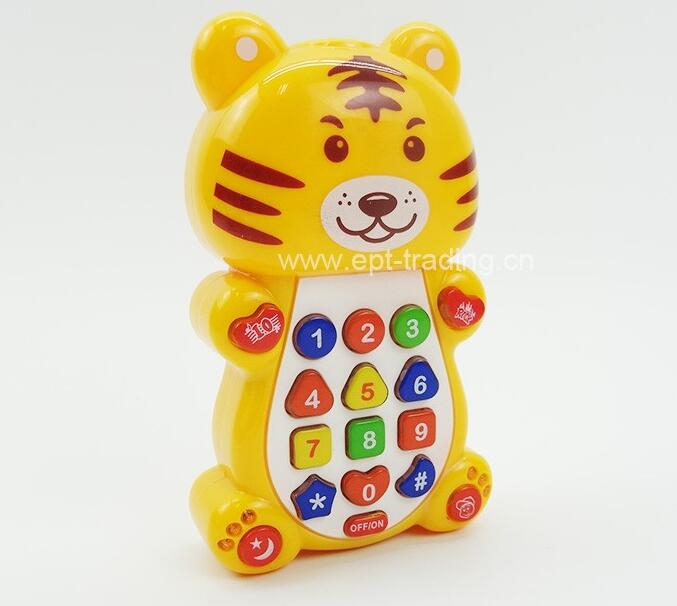 Early educational smart toy mobile phone baby musical phone toy for sale