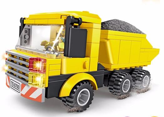 Kids Educational Gift Engineering Truck Building Blocks Abs Plastic Construction Toys